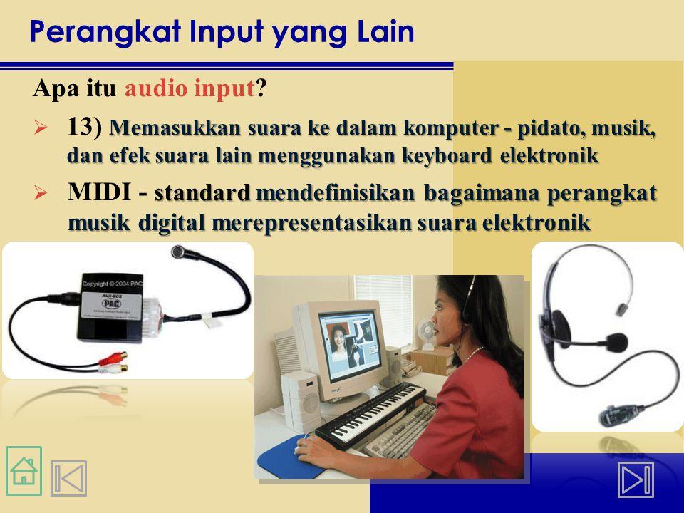Perangkat Input yang Lain Apa itu audio input.
