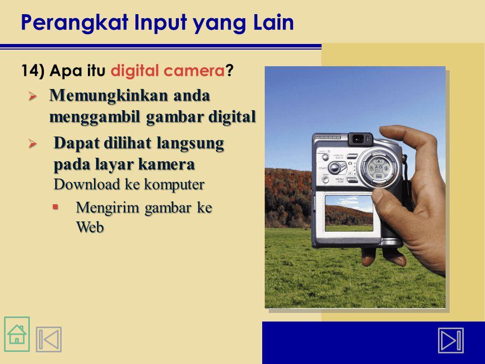Perangkat Input yang Lain 14) Apa itu digital camera.