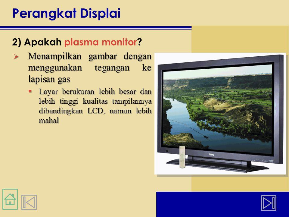 Perangkat Displai 2) Apakah plasma monitor.