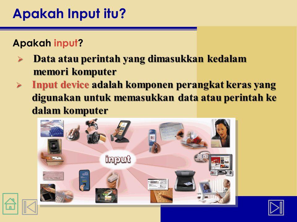 Perangkat Input yang Lain Apa saja contoh dari teknologi biometrik.