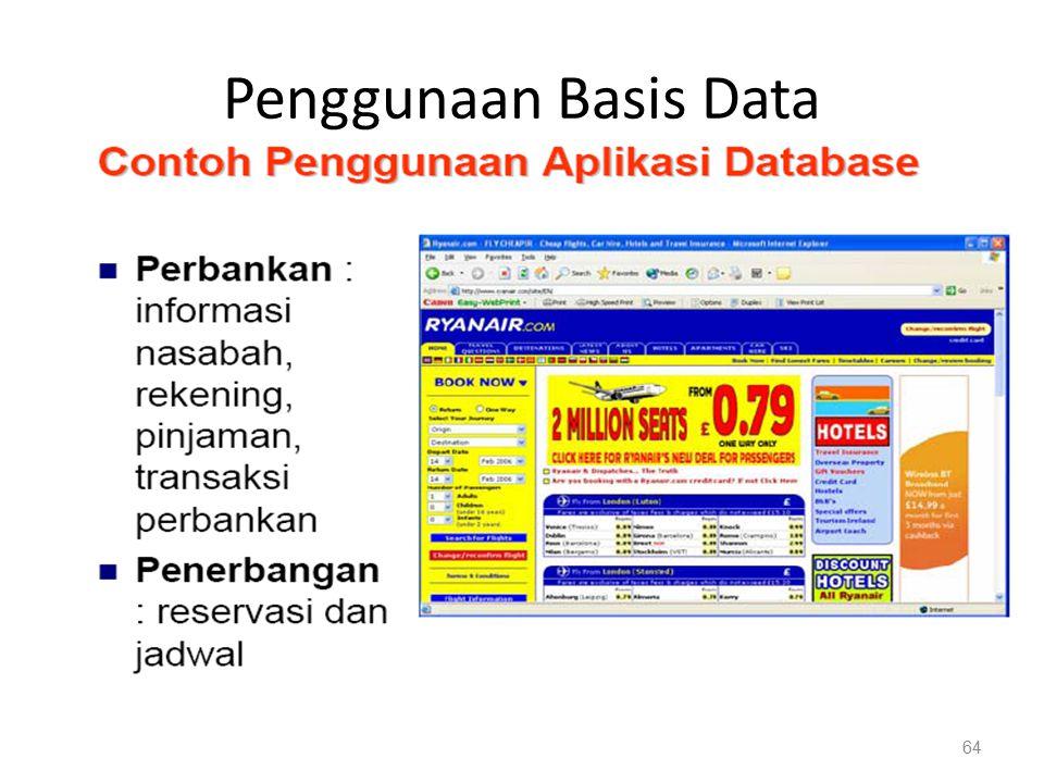 Penggunaan Basis Data 64