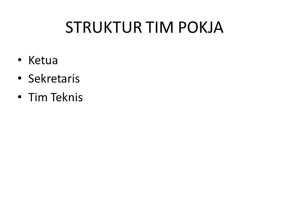 STRUKTUR TIM POKJA Ketua Sekretaris Tim Teknis