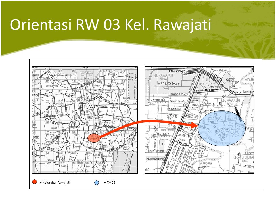 Peta RW 03 Kel. Rawajati Kel. Rawajati RW. 03