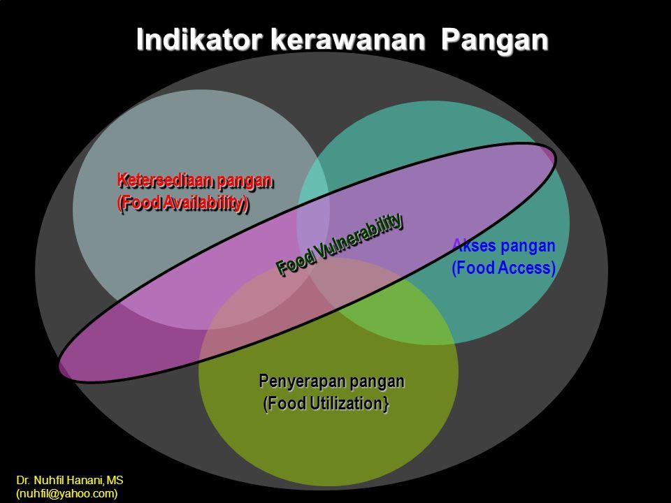 Dr. Nuhfil Hanani, MS (nuhfil@yahoo.com) nuhfil hanani5 SUBSISTEM KETAHANAN PANGAN Di INDONESIA subsistem ketersediaan subsistem konsumsi subsistem di