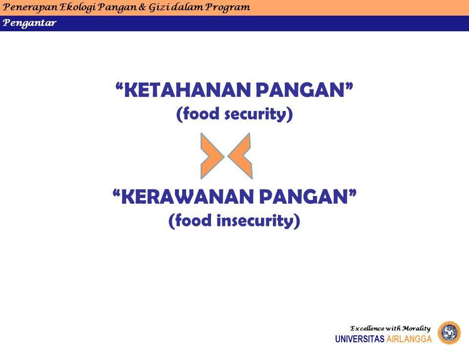 Penerapan Ekologi Pangan & Gizi dalam Program Pola Pangan Harapan (PPH) UNIVERSITAS AIRLANGGA Excellence with Morality