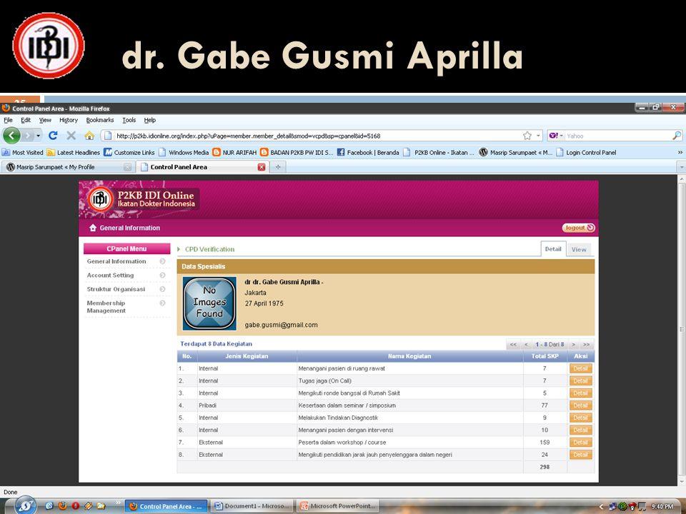 dr. Gabe Gusmi Aprilla 25