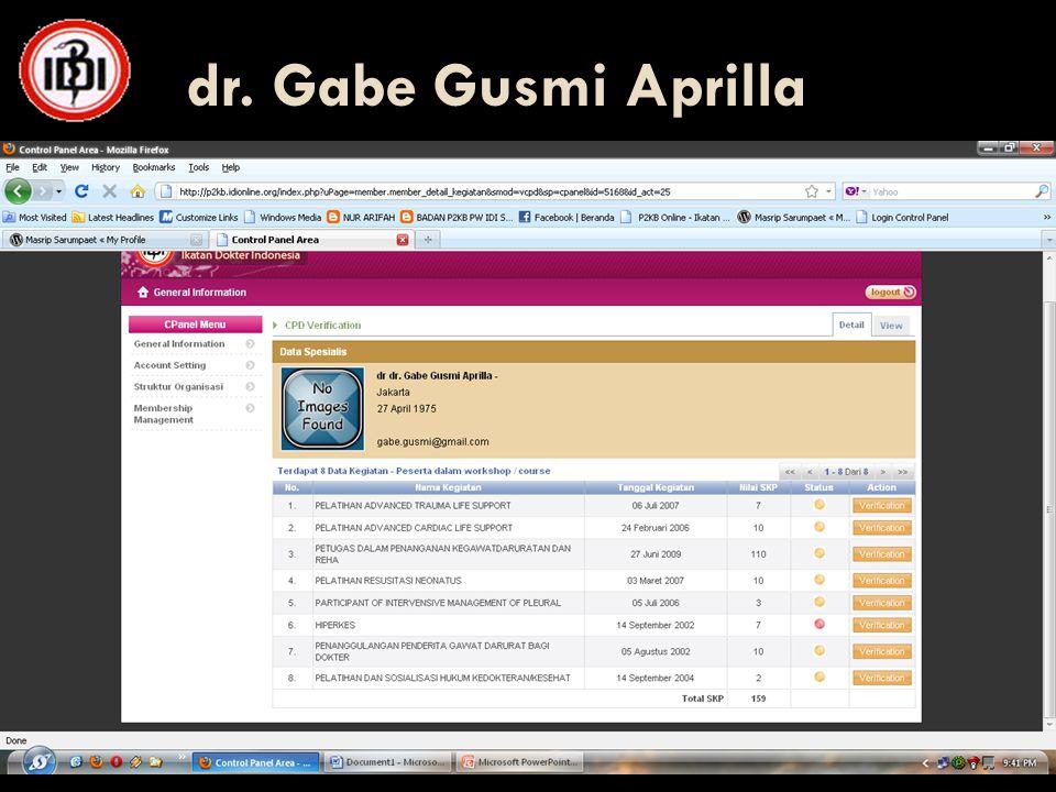 dr. Gabe Gusmi Aprilla 26