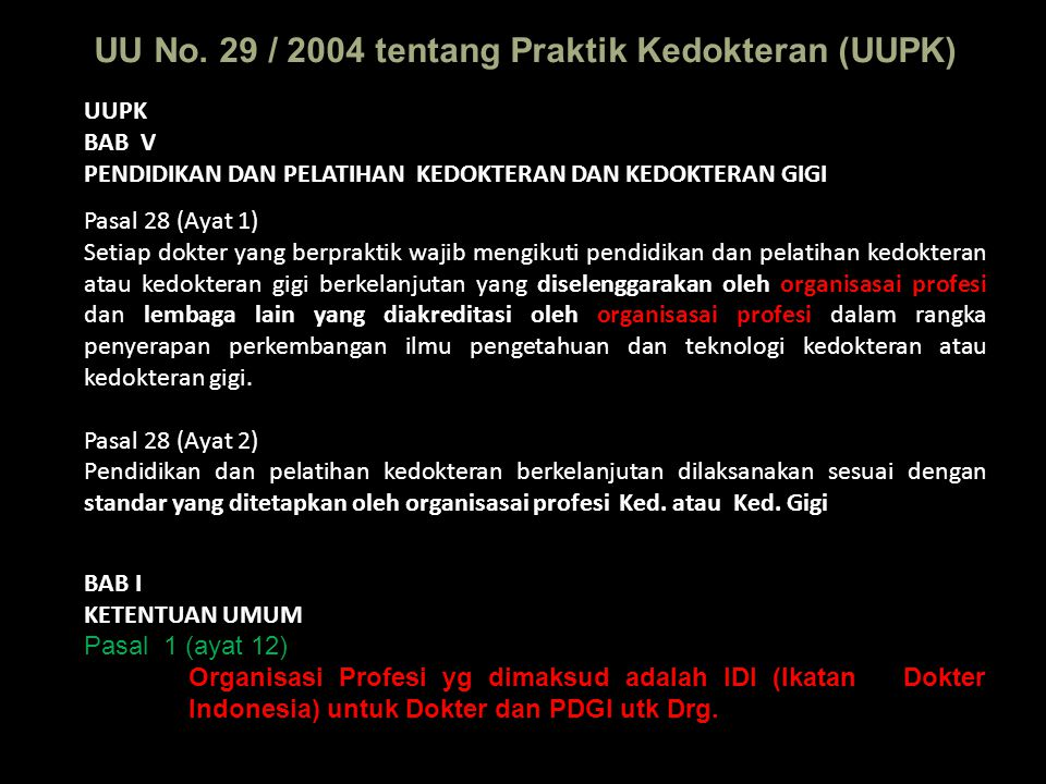 Jumlah SKP Dokter Umum Tempat praktek: Puskesmas & praktek pribadi 1.