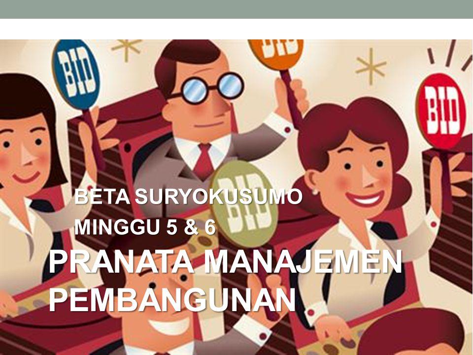 PRANATA MANAJEMEN PEMBANGUNAN BETA SURYOKUSUMO MINGGU 5 & 6