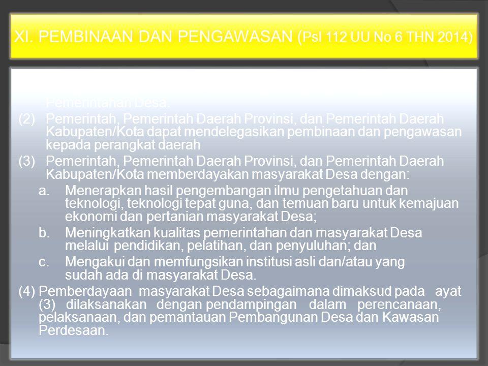UU NO 6 TAHUN 2014 BAB XIV PEMBINAAN DAN PENGAWASAN