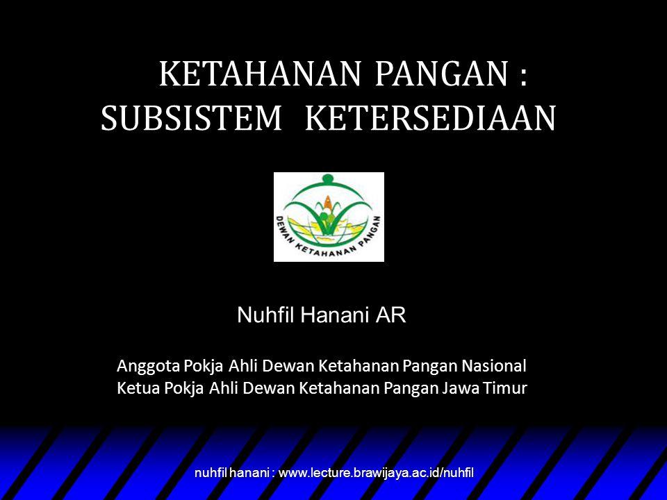 Nuhfil Hanani nuhfil hanani : www.lecture.brawijaya.ac.id/nuhfil