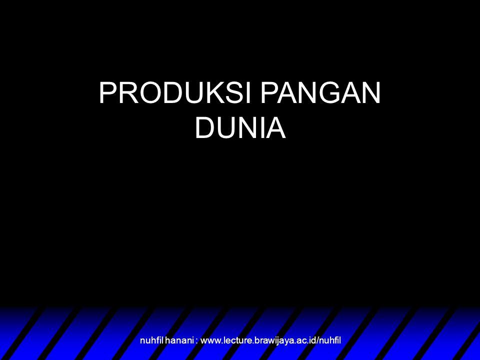 PRODUKSI PANGAN DUNIA nuhfil hanani : www.lecture.brawijaya.ac.id/nuhfil