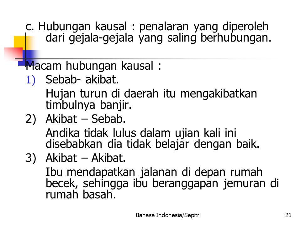 Bahasa Indonesia/Sepitri21 c.