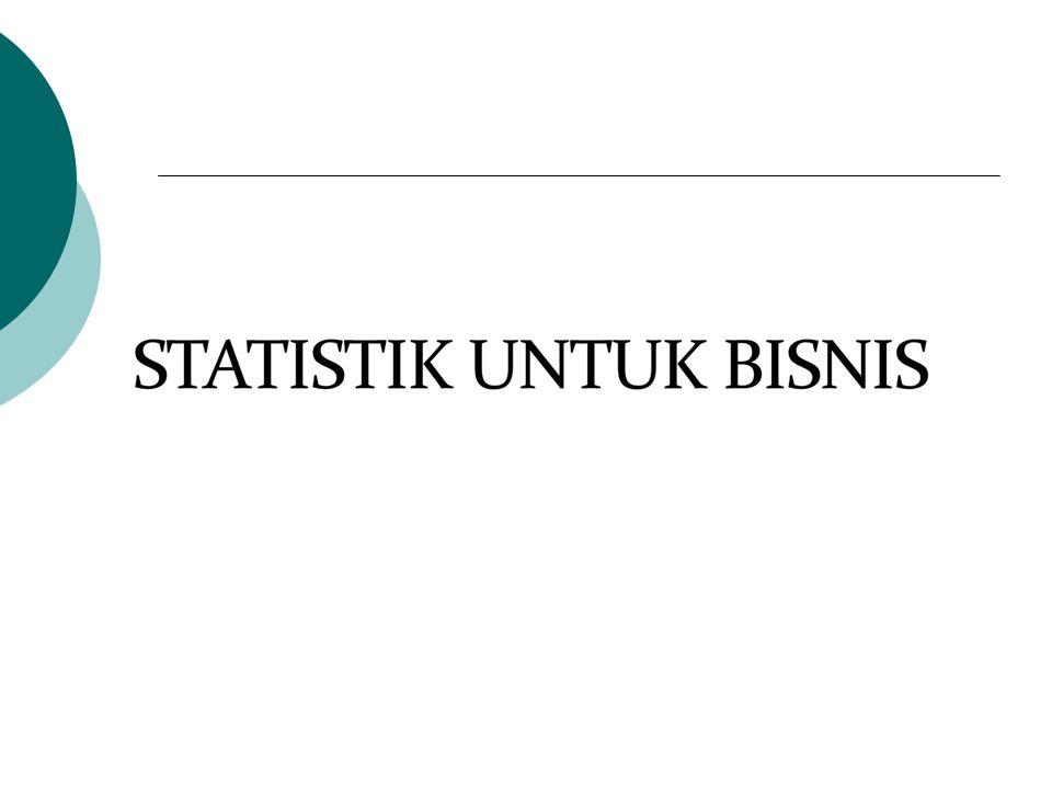 Ekonometrika  Metode-metode statistik yang telah disesuaikan untuk masalah-maslah ekonomi.