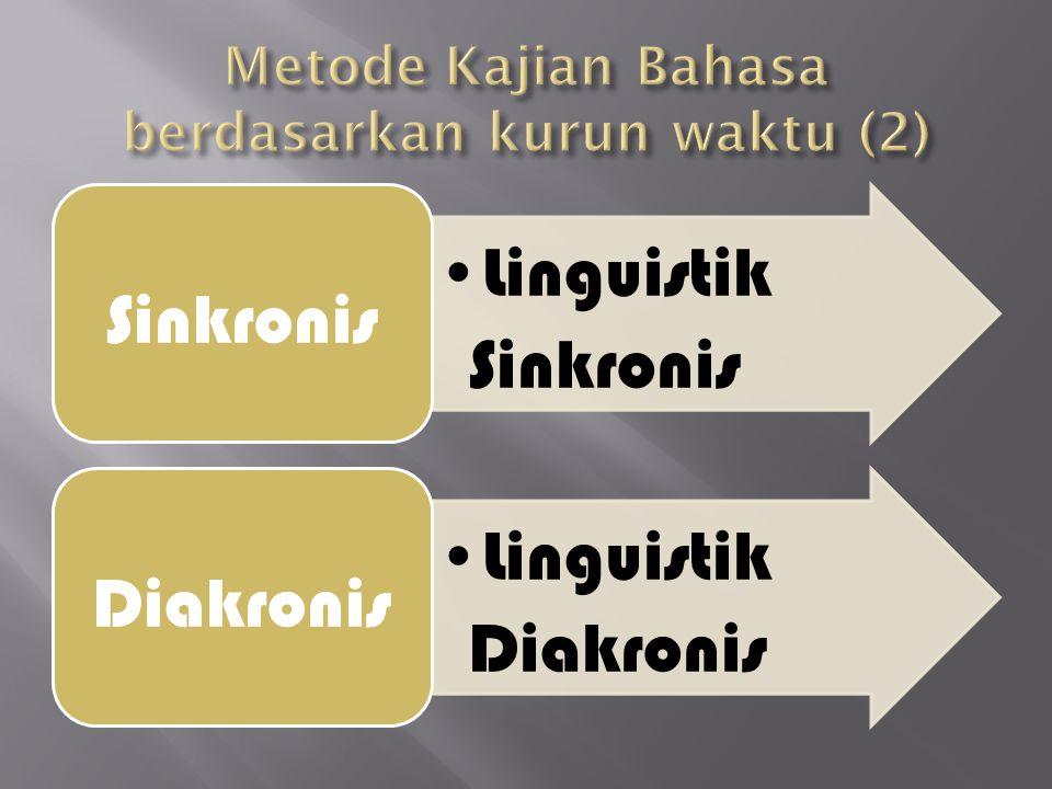 Linguistik Sinkronis Sinkronis Linguistik Diakronis Diakronis