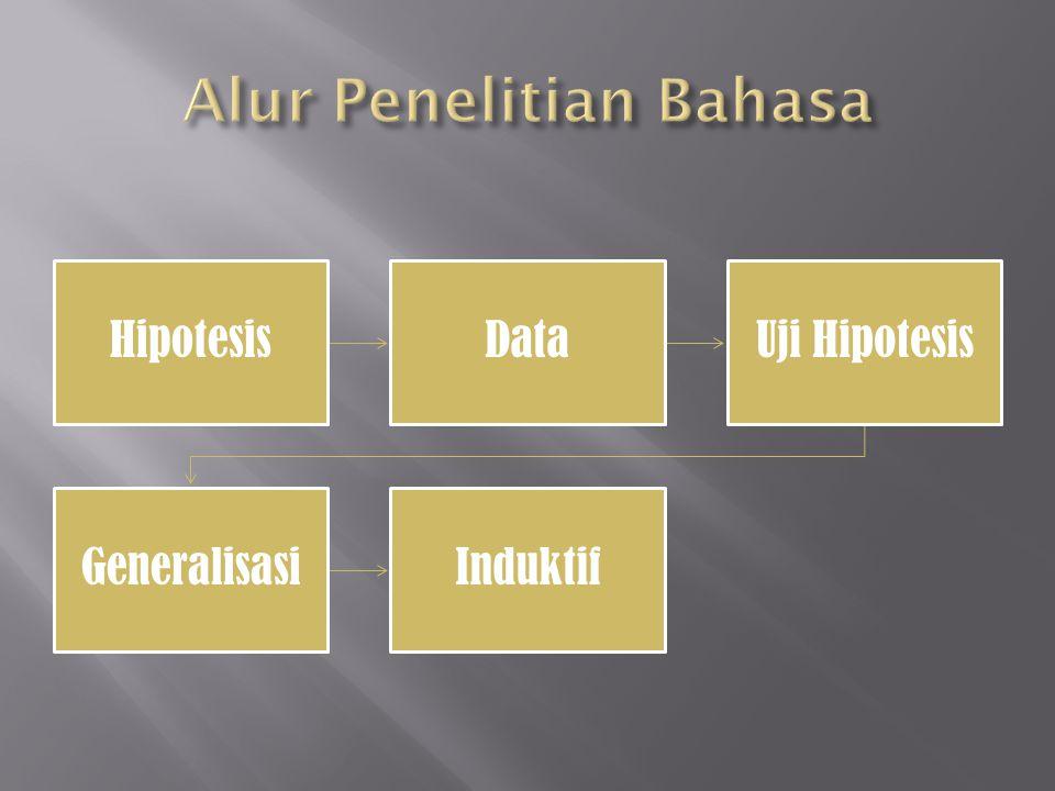 HipotesisDataUji Hipotesis GeneralisasiInduktif