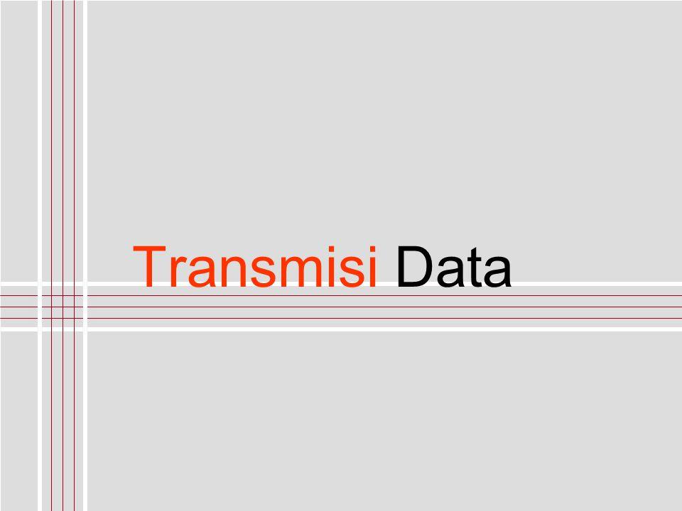 priohandoko@stmik-mdp.net Komunikasi Data Mode Transmisi Transmisi Data Pengiriman data yang dilakukan oleh dua perangkat (komputer atau non-komputer) atau lebih dengan menggunakan suatu media komunikasi tertentu.