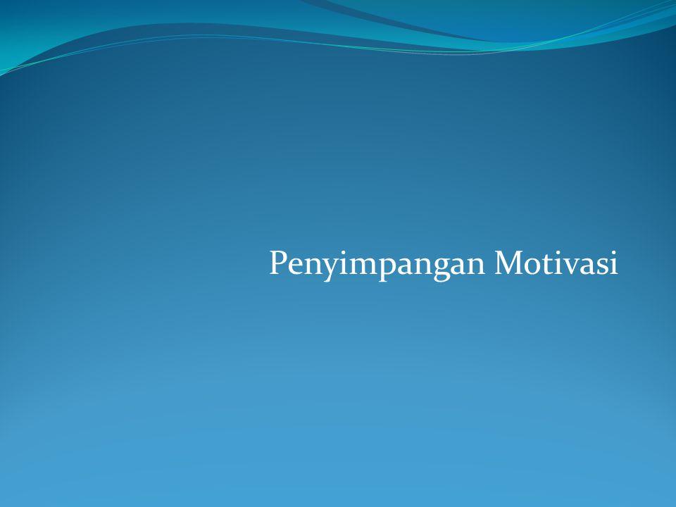 Kesalahan yang kita buat adalah hasil dari penyimpangan motivasional Bab ini terdiri dari empat bagian : 1.