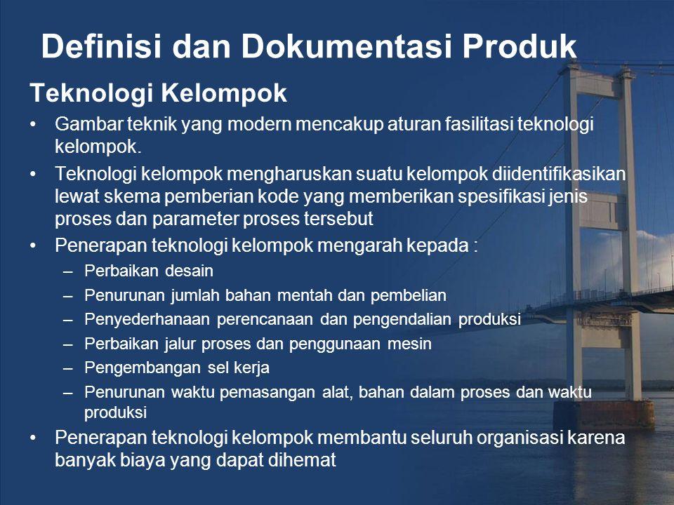 Definisi dan Dokumentasi Produk Teknologi Kelompok Gambar teknik yang modern mencakup aturan fasilitasi teknologi kelompok.