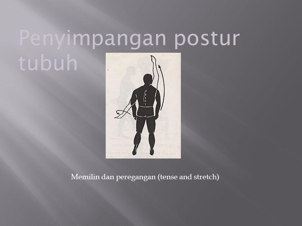 Penyimpangan postur tubuh Memilin dan peregangan (tense and stretch)