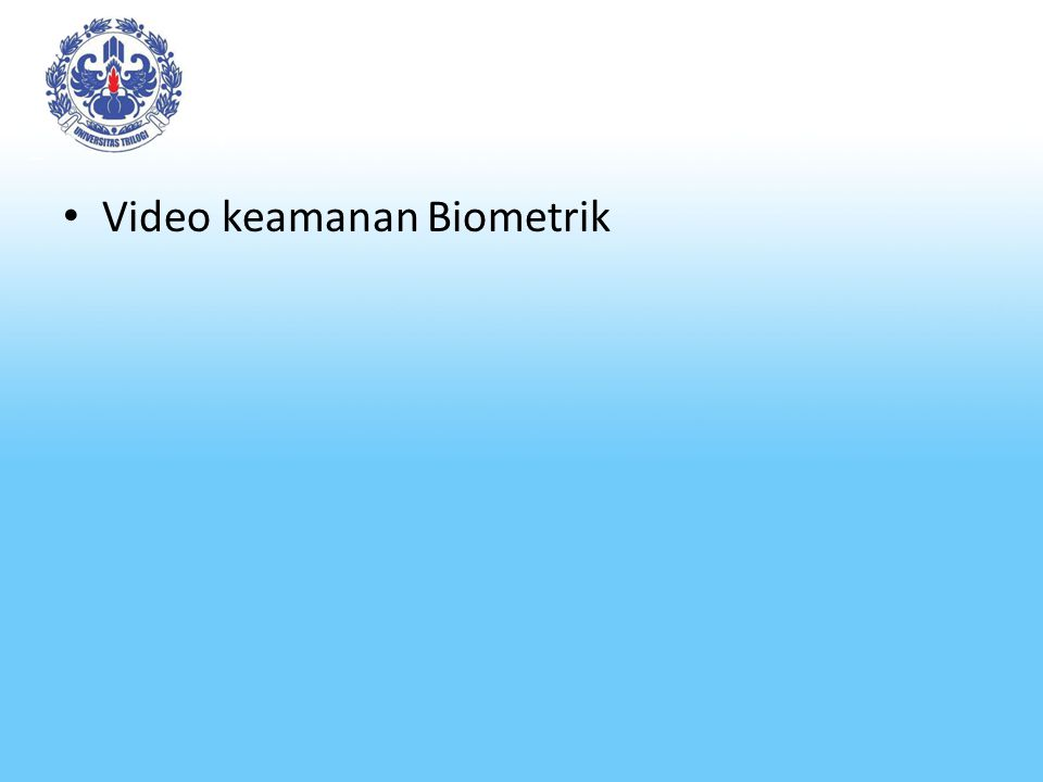 Video keamanan Biometrik