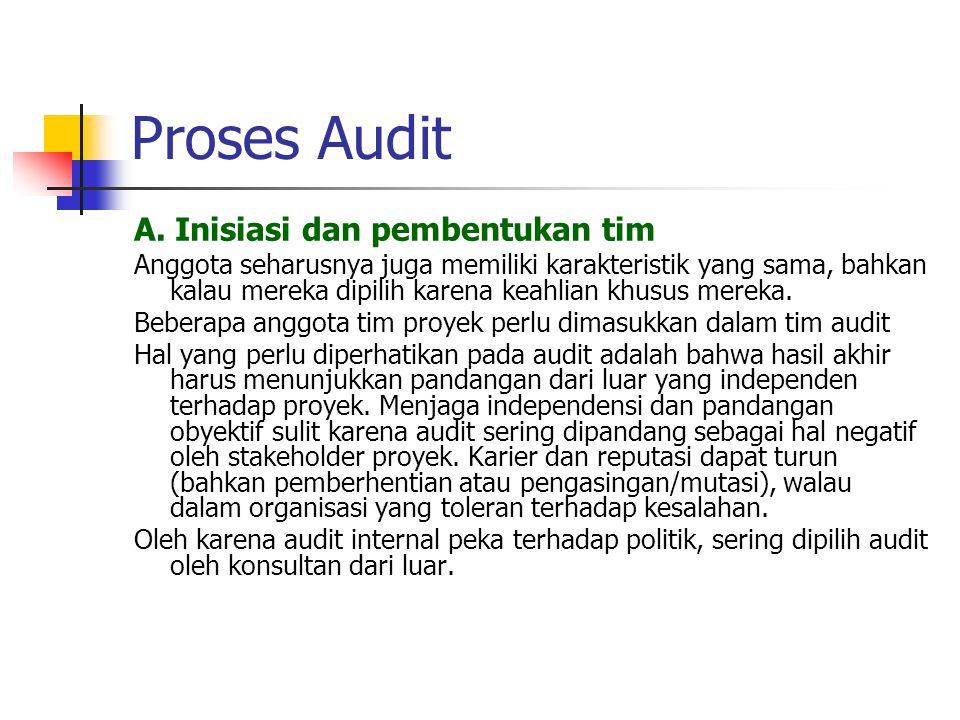Proses Audit B.Mengumpulkan dan Menanalisis Data Pengumpulan data dapat melalui questioner sbb.