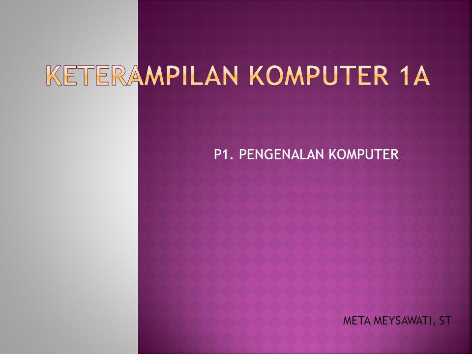 P1. PENGENALAN KOMPUTER META MEYSAWATI, ST