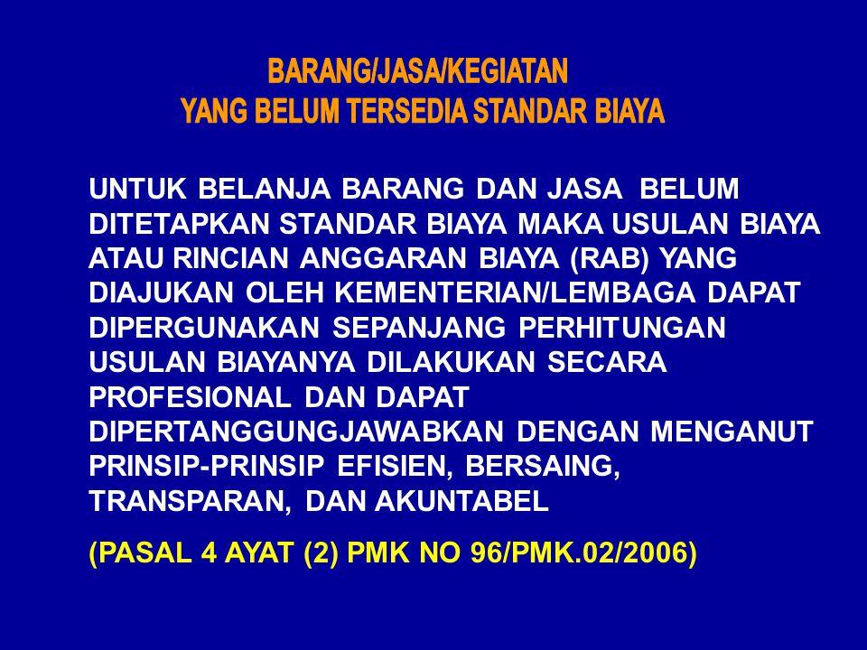 STANDAR BIAYA S.B.UMUM S.B.