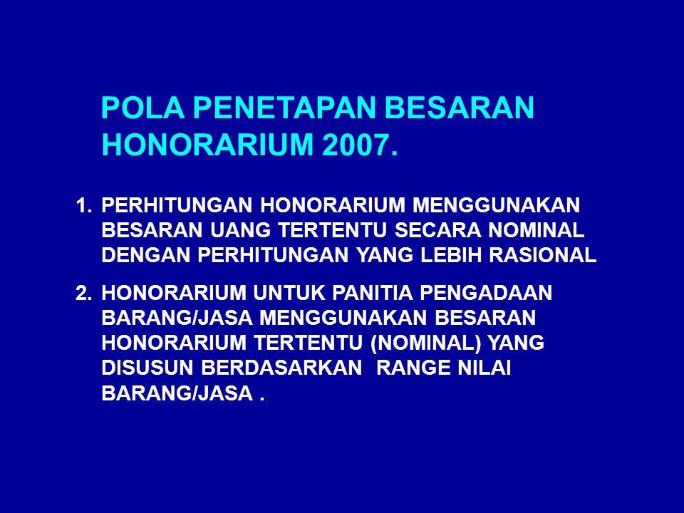 PERUBAHAN UANG LEMBUR PNS TAHUN 2007 (3): BESARAN LEMBUR DAN UANG MAKAN GOL KEPMENKEU NO.