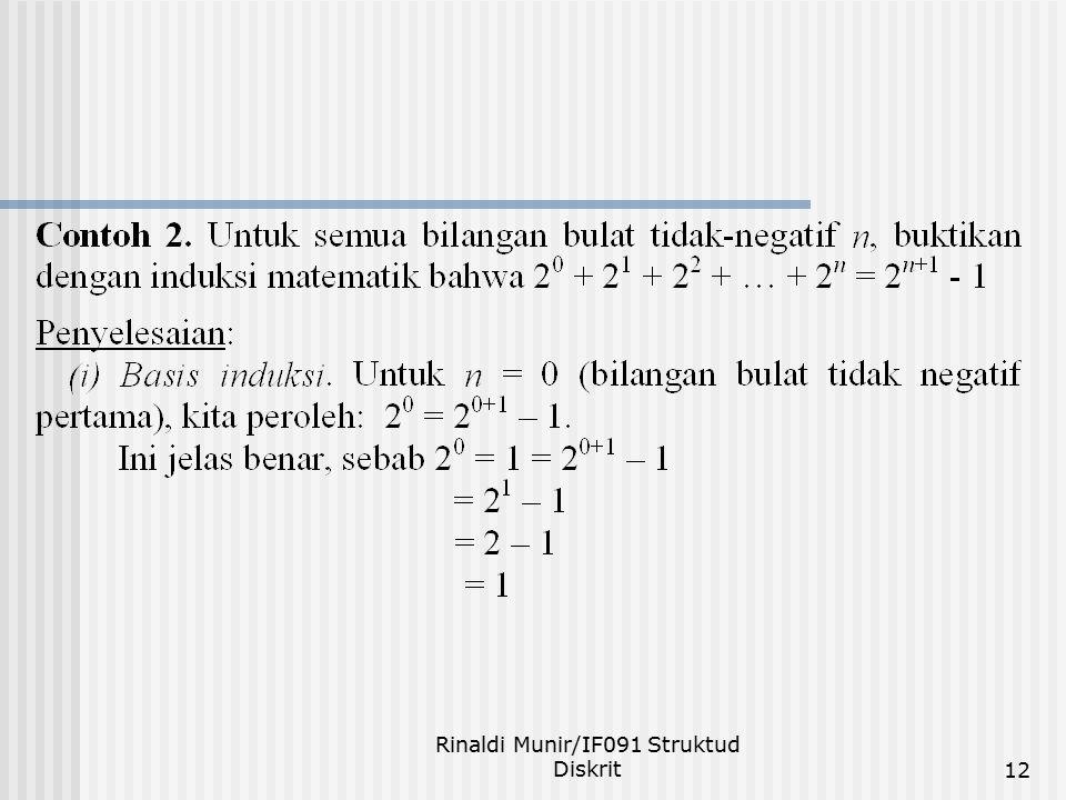 Rinaldi Munir/IF091 Struktud Diskrit12