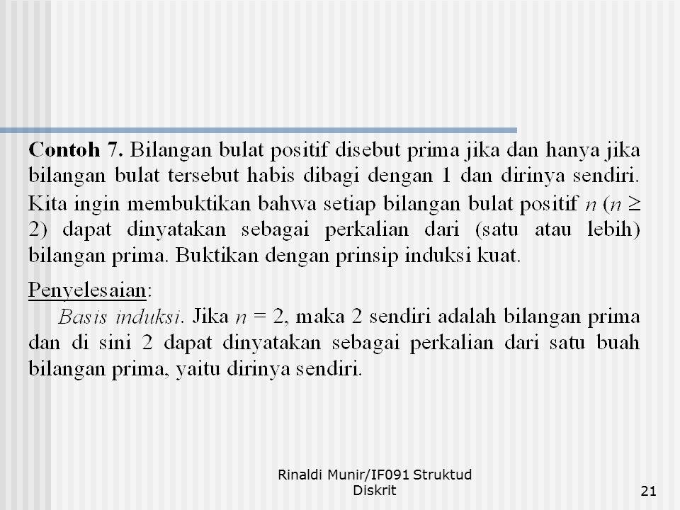 Rinaldi Munir/IF091 Struktud Diskrit21