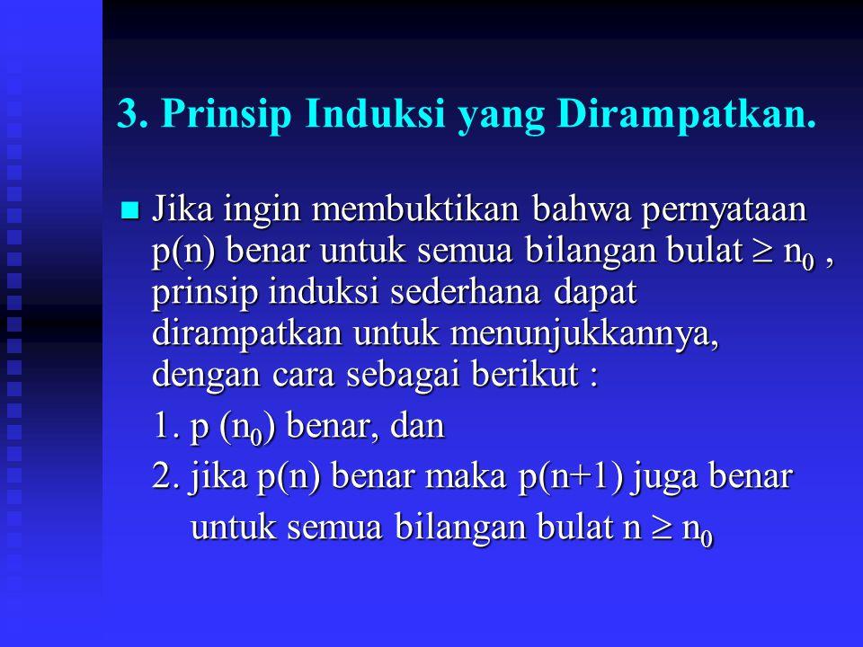 3.Prinsip Induksi yang Dirampatkan.