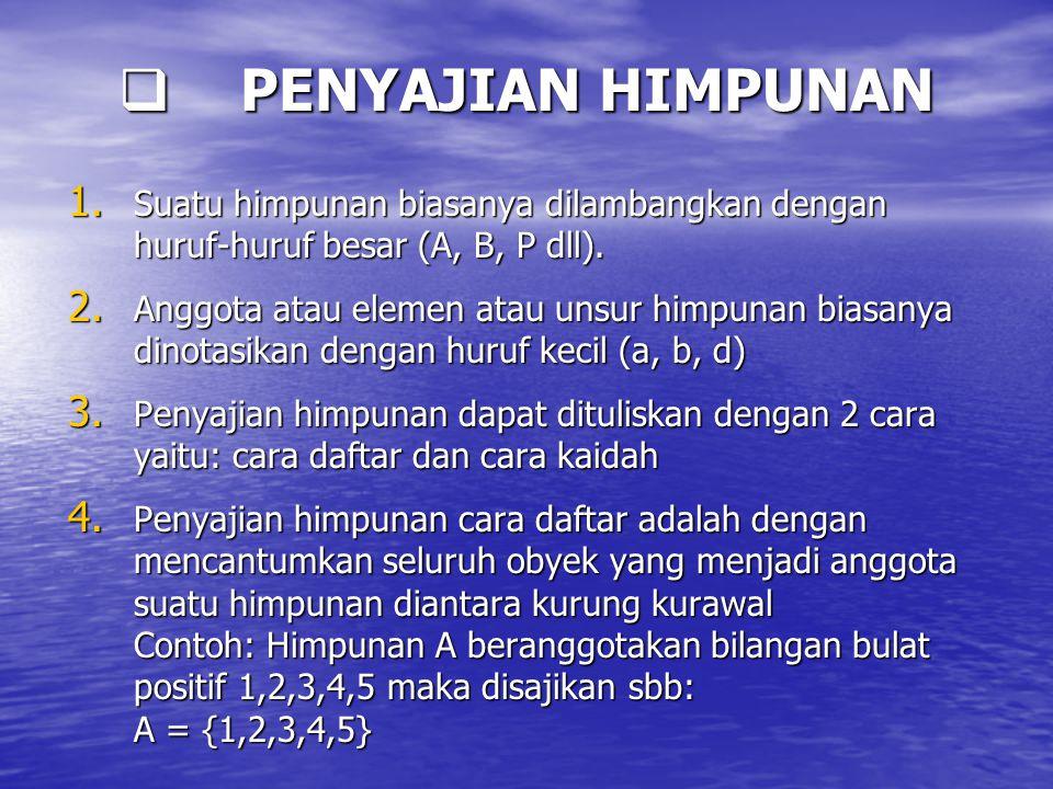  PENYAJIAN HIMPUNAN 1.