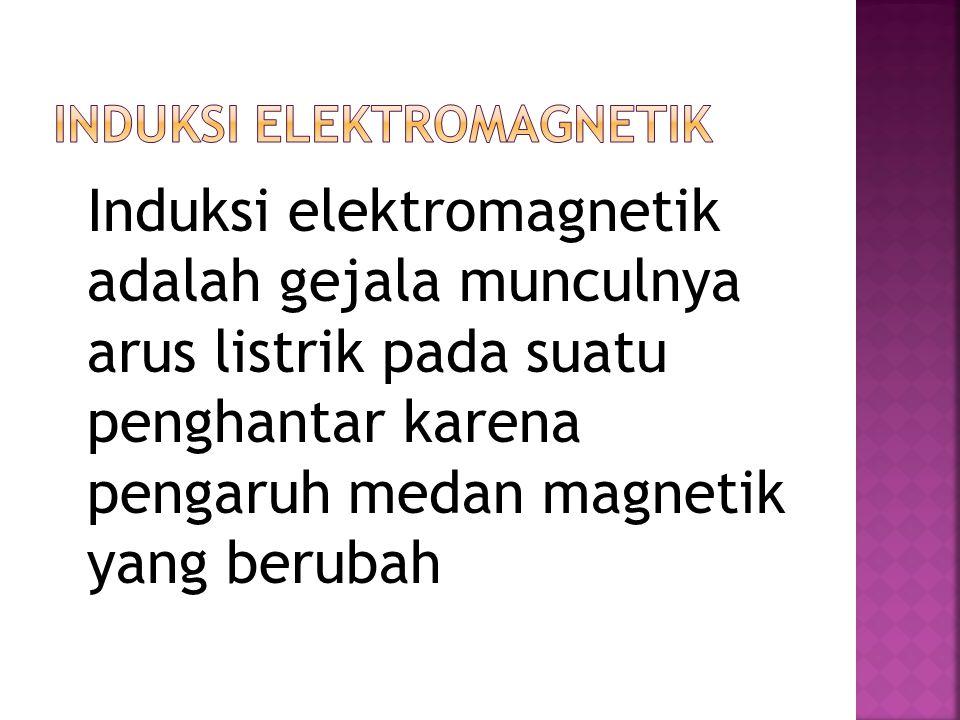 Induksi elektromagnetik adalah gejala munculnya arus listrik pada suatu penghantar karena pengaruh medan magnetik yang berubah