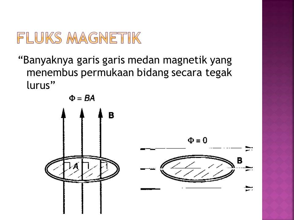 Banyaknya garis garis medan magnetik yang menembus permukaan bidang secara tegak lurus