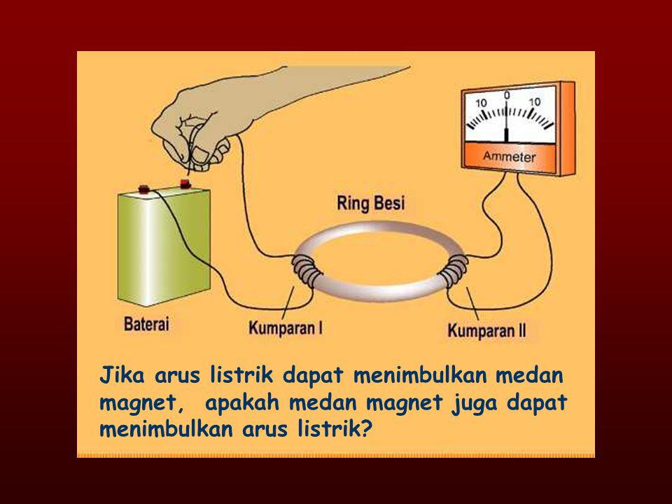Arus bolak-balik menyebabkan terjadinya perubahan medan magnet pada kumparan primer.