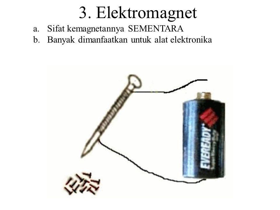 2. Gosokan Besi/Baja digosok-gosok searah dengan magnet menjadi magnet