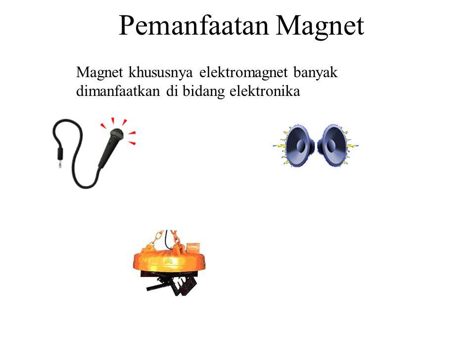 3. Elektromagnet a.Sifat kemagnetannya SEMENTARA b.Banyak dimanfaatkan untuk alat elektronika