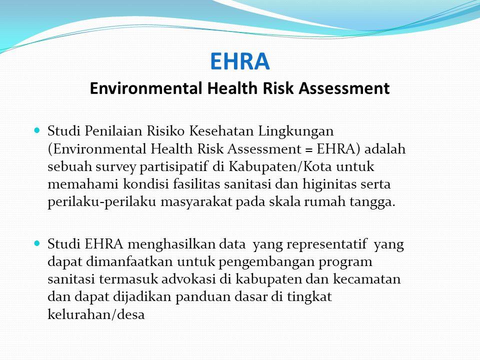 EHRA Environmental Health Risk Assessment Studi Penilaian Risiko Kesehatan Lingkungan (Environmental Health Risk Assessment = EHRA) adalah sebuah surv