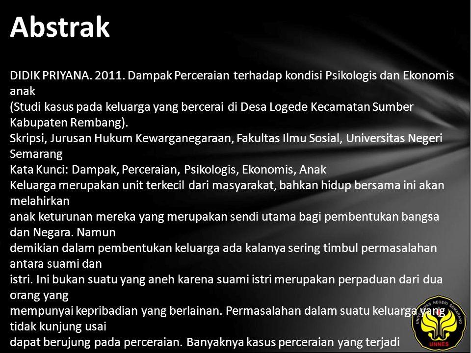 Abstrak DIDIK PRIYANA.2011.
