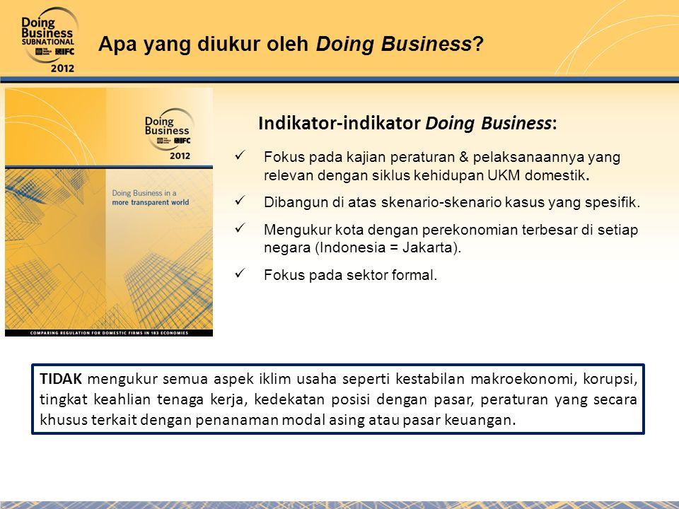 Apa yang diukur oleh Doing Business.