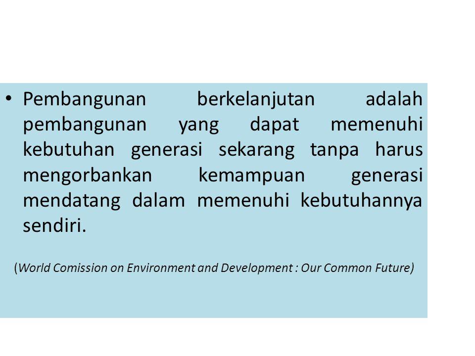 Dua konsep ekonomi diatas pilar bagi pembangunan berkelanjutan (sustainable growth) menuntut kearifan manusia untuk menyeimbangkan tuntutan menyejahterakan 7 miliar penduduk dunia saat ini (termasuk 240 juta rakyat Indonesia).