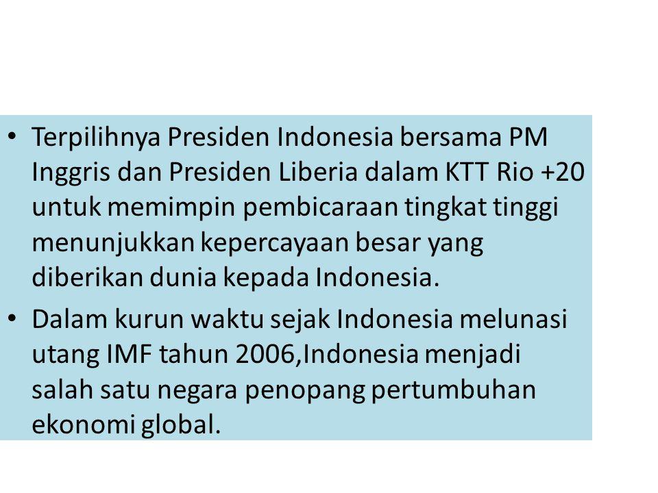 Di sisi pembangunan sosial, pencapaian MDGs Indonesia hingga akhir tahun 2011 cukup menggembirakan dengan capaian hingga 75-80%.