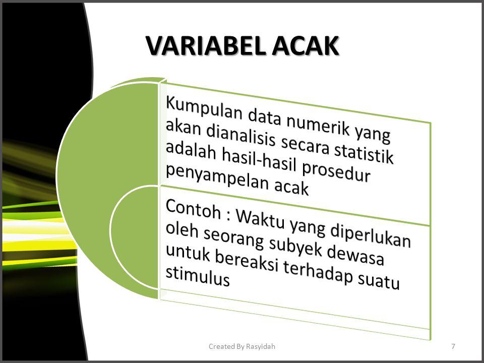 VARIABEL ACAK Created By Rasyidah7