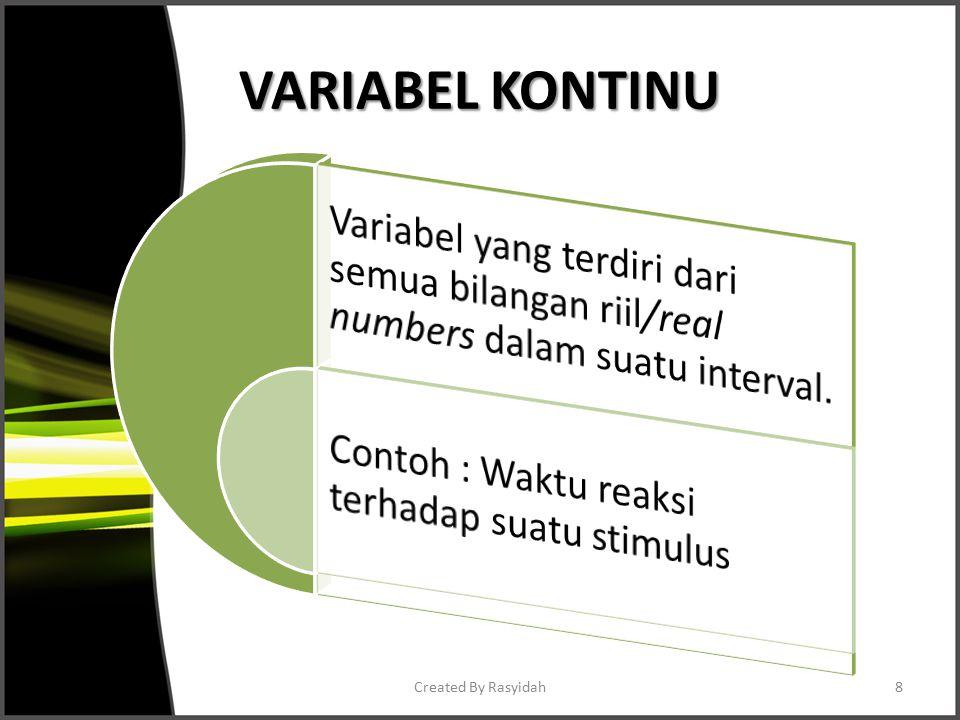VARIABEL KONTINU Created By Rasyidah8