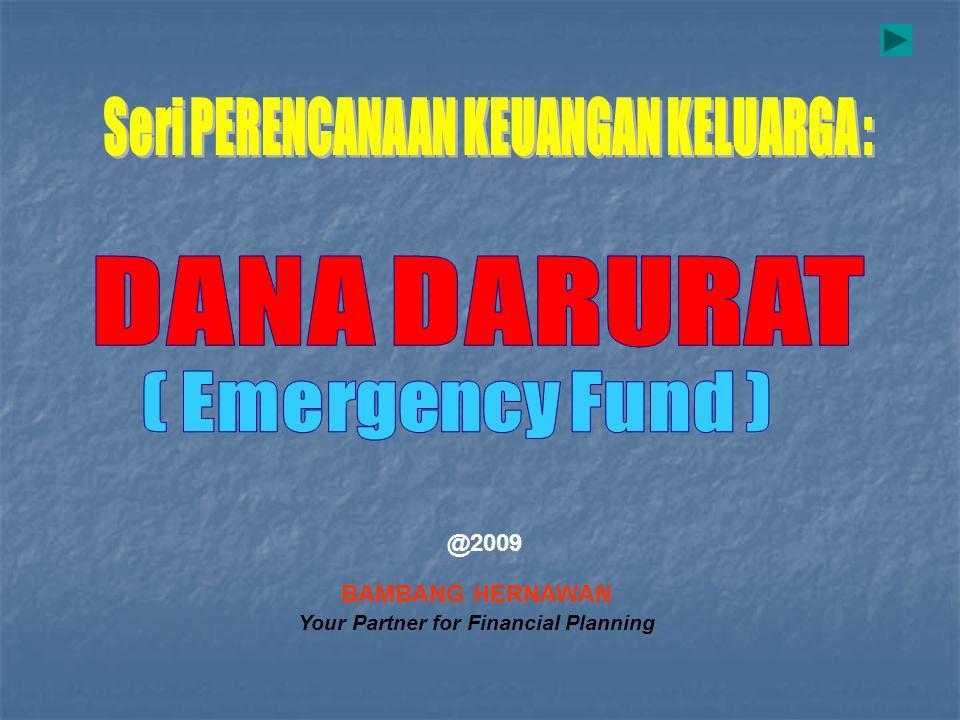 BAMBANG HERNAWAN Your Partner for Financial Planning @2009
