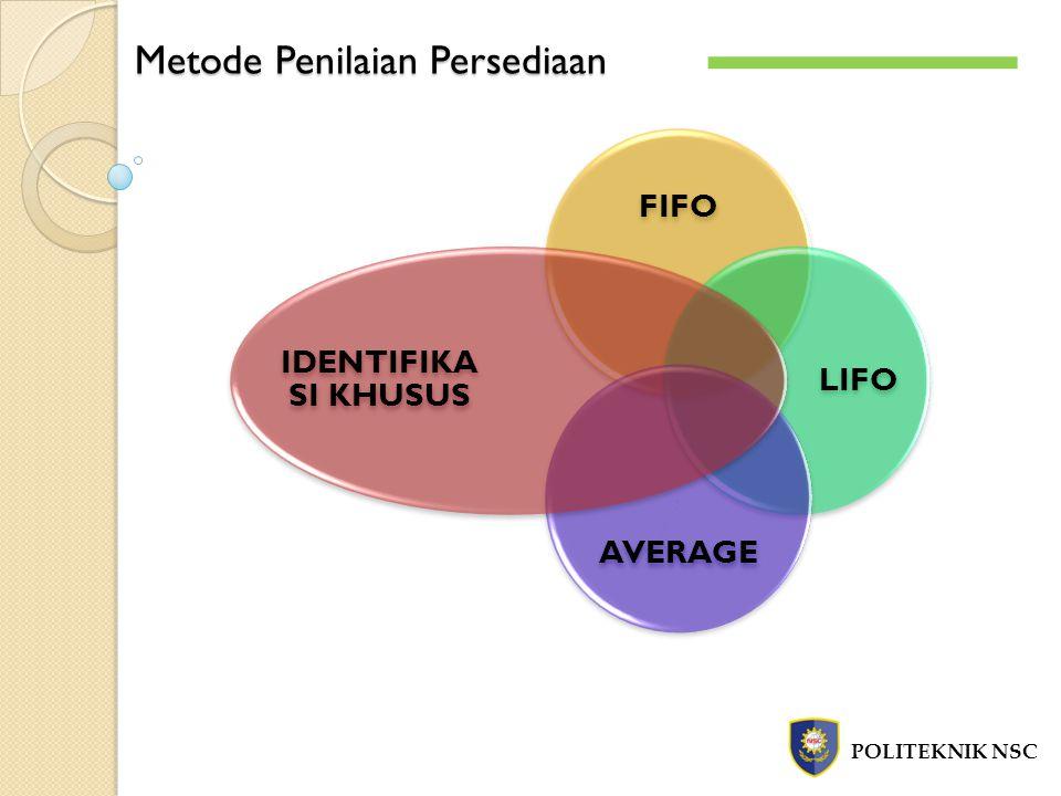 Metode Penilaian Persediaan POLITEKNIK NSC FIFO LIFO AVERAGE IDENTIFIKA SI KHUSUS