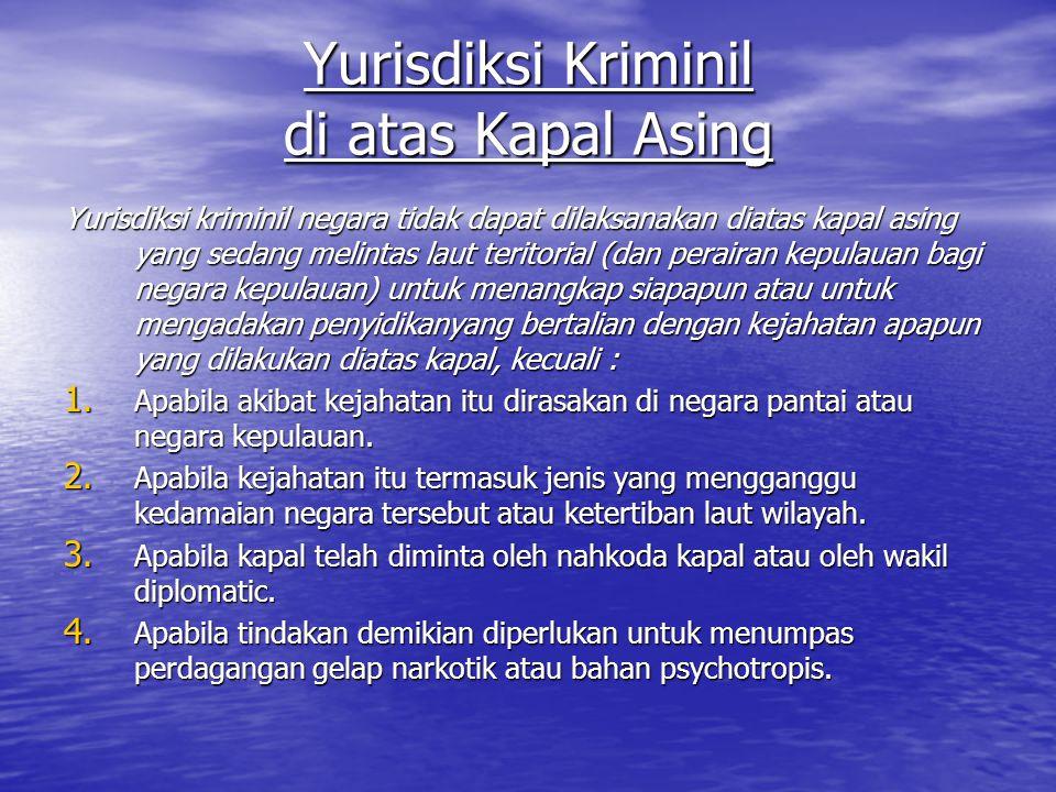 Perjanjian Indonesia dengan Malaysia tentang … Rezim hukum Negara Nusantara dan hak-hak Malaysia di laut TERR dan perairan Nusantara serta ruang udara di atas laut TERR, peraiaran Nusantara dan wilayah RI yang terletak diantara Malaysia Timur dan Malaysia Barat.