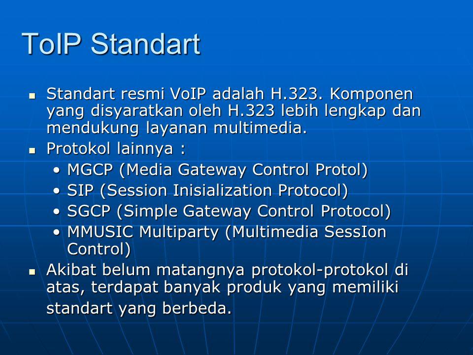ToIP Standart Standart resmi VoIP adalah H.323.