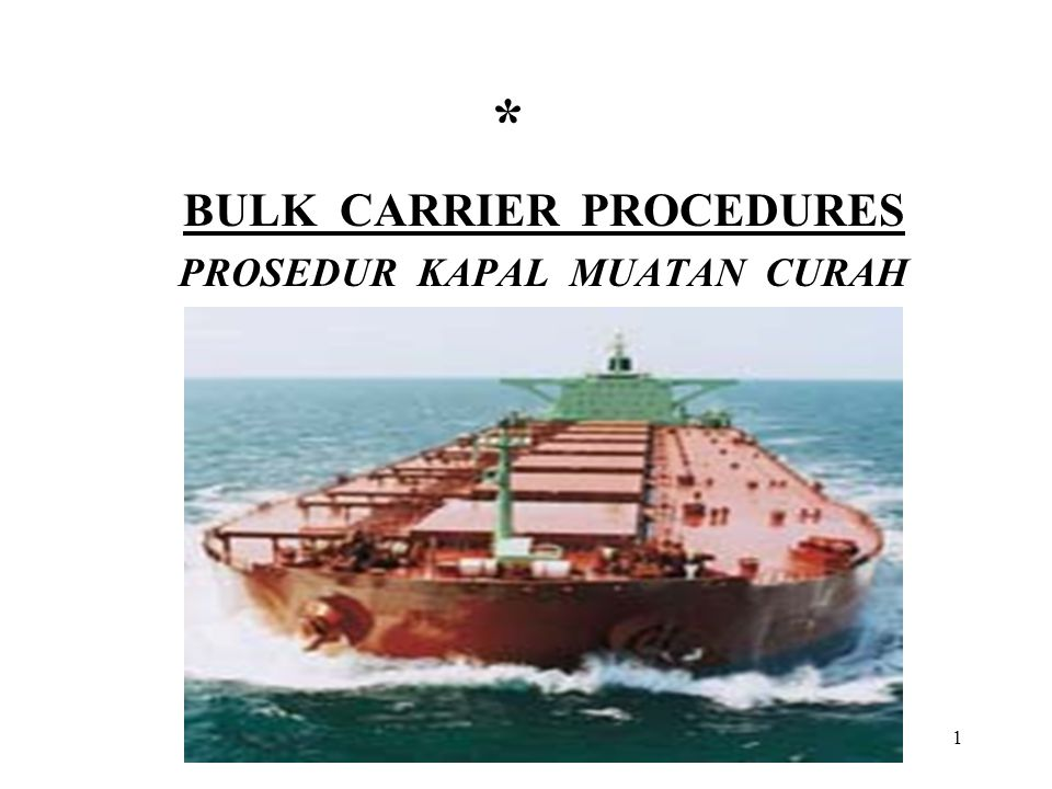 2 DAFTAR ISI Section 1- General Section 2- Hazards and Precautions Section 3- Pollution Prevention Section 4- Operational Planning Section 5- Standard Operating Procedures Section 6- Ballast and Hold Bilge Operations Section 7- Periodic Inspection, Testing and Maintenance
